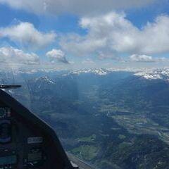 Flugwegposition um 12:03:34: Aufgenommen in der Nähe von Gemeinde Weißensee, Österreich in 2874 Meter