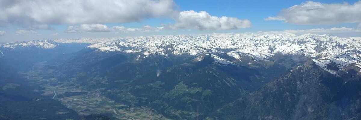 Flugwegposition um 12:03:23: Aufgenommen in der Nähe von Gemeinde Weißensee, Österreich in 2868 Meter