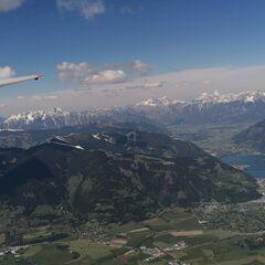Flugwegposition um 13:20:23: Aufgenommen in der Nähe von Gemeinde Kaprun, Kaprun, Österreich in 2744 Meter
