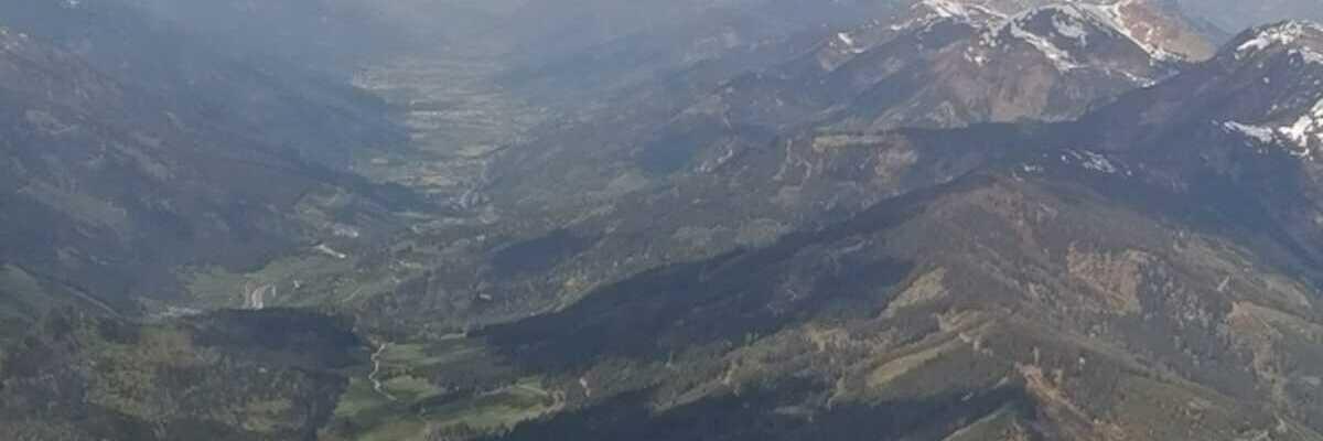 Flugwegposition um 09:49:45: Aufgenommen in der Nähe von Gemeinde Kalwang, 8775, Österreich in 2302 Meter