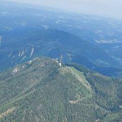 Flugwegposition um 13:16:59: Aufgenommen in der Nähe von Gemeinde Spital am Semmering, Österreich in 1960 Meter