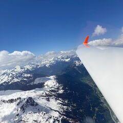 Verortung via Georeferenzierung der Kamera: Aufgenommen in der Nähe von Gemeinde Klösterle, Österreich in 3200 Meter