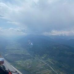 Flugwegposition um 13:29:23: Aufgenommen in der Nähe von Gemeinde Hermagor-Pressegger See, Österreich in 1955 Meter