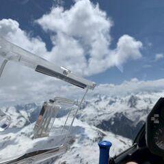 Flugwegposition um 10:08:38: Aufgenommen in der Nähe von Gemeinde Gashurn, Gaschurn, Österreich in 2681 Meter