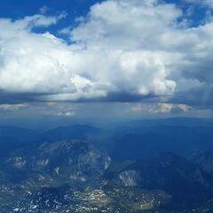 Flugwegposition um 13:45:45: Aufgenommen in der Nähe von Gemeinde Wildalpen, 8924, Österreich in 2558 Meter