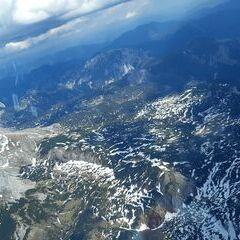 Flugwegposition um 13:44:53: Aufgenommen in der Nähe von Gemeinde Wildalpen, 8924, Österreich in 2560 Meter