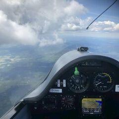 Flugwegposition um 12:14:21: Aufgenommen in der Nähe von Aigen-Schlägl, Österreich in 2424 Meter