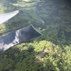 Flugwegposition um 12:49:20: Aufgenommen in der Nähe von Regen, Deutschland in 2372 Meter