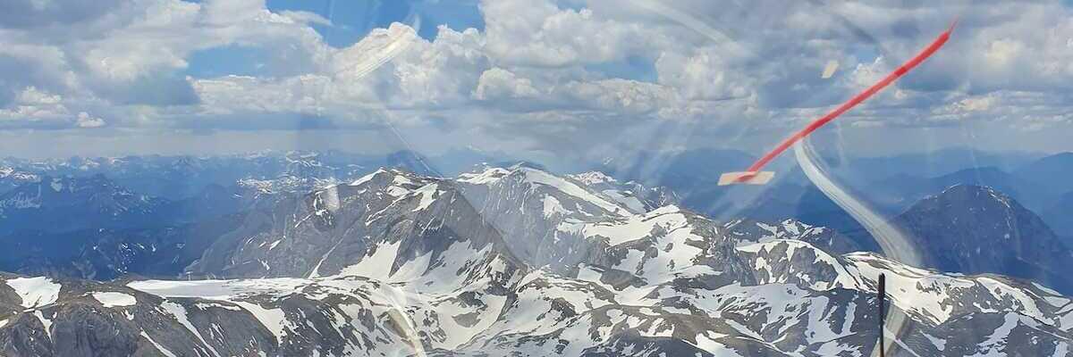Flugwegposition um 11:39:30: Aufgenommen in der Nähe von Gemeinde Thörl, Österreich in 2223 Meter