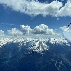 Flugwegposition um 12:41:52: Aufgenommen in der Nähe von Mittersill, Österreich in 2950 Meter