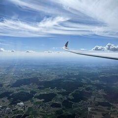 Verortung via Georeferenzierung der Kamera: Aufgenommen in der Nähe von Cham, Deutschland in 2600 Meter