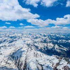 Flugwegposition um 11:46:57: Aufgenommen in der Nähe von Pruggern, Österreich in 2985 Meter