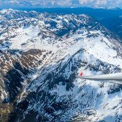 Flugwegposition um 11:50:38: Aufgenommen in der Nähe von Schladming, Österreich in 3185 Meter
