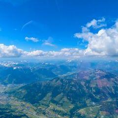 Flugwegposition um 12:27:18: Aufgenommen in der Nähe von Gemeinde Großarl, 5611, Österreich in 3511 Meter