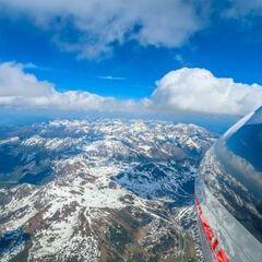 Flugwegposition um 13:00:12: Aufgenommen in der Nähe von Gemeinde Großarl, 5611, Österreich in 3487 Meter