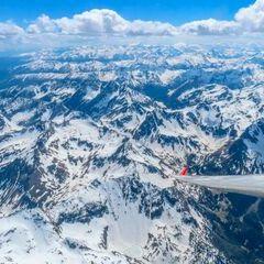 Flugwegposition um 13:11:59: Aufgenommen in der Nähe von Gemeinde Untertauern, Österreich in 3553 Meter
