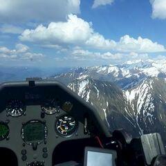 Flugwegposition um 14:21:31: Aufgenommen in der Nähe von Mittersill, Österreich in 2473 Meter