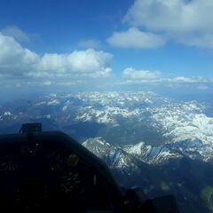 Flugwegposition um 15:02:51: Aufgenommen in der Nähe von Gemeinde Flachau, Österreich in 3433 Meter