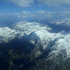 Flugwegposition um 15:03:03: Aufgenommen in der Nähe von Gemeinde Flachau, Österreich in 3386 Meter