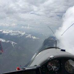 Flugwegposition um 12:16:02: Aufgenommen in der Nähe von Gemeinde Schoppernau, Österreich in 2723 Meter