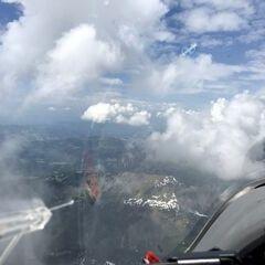 Flugwegposition um 12:17:15: Aufgenommen in der Nähe von Gemeinde Schoppernau, Österreich in 2628 Meter