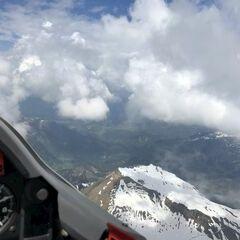 Flugwegposition um 12:17:23: Aufgenommen in der Nähe von Gemeinde Schoppernau, Österreich in 2622 Meter