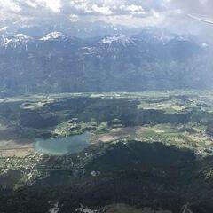 Flugwegposition um 11:13:31: Aufgenommen in der Nähe von Gemeinde Paternion, Österreich in 2475 Meter