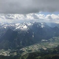 Flugwegposition um 12:23:21: Aufgenommen in der Nähe von Gemeinde Oberdrauburg, 9781, Österreich in 2720 Meter