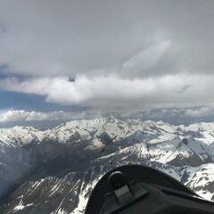 Flugwegposition um 12:41:12: Aufgenommen in der Nähe von Gemeinde St. Johann im Walde, St. Johann im Walde, Österreich in 3483 Meter