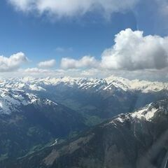 Flugwegposition um 12:41:16: Aufgenommen in der Nähe von Gemeinde St. Johann im Walde, St. Johann im Walde, Österreich in 3497 Meter