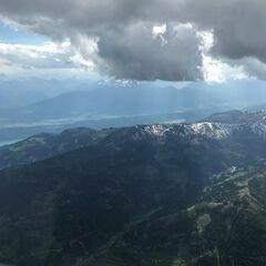 Flugwegposition um 14:24:06: Aufgenommen in der Nähe von Gemeinde Radenthein, Österreich in 3408 Meter
