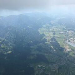 Flugwegposition um 14:39:47: Aufgenommen in der Nähe von Gemeinde Finkenstein am Faaker See, Österreich in 2556 Meter