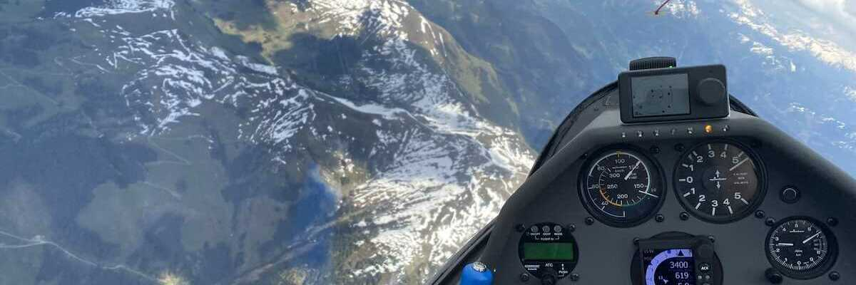 Flugwegposition um 12:58:02: Aufgenommen in der Nähe von Gemeinde Zell am See, 5700 Zell am See, Österreich in 3258 Meter