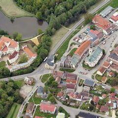 Flugwegposition um 11:34:34: Aufgenommen in der Nähe von Okres Tachov, Tschechien in 1685 Meter