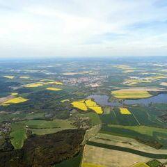 Flugwegposition um 12:16:37: Aufgenommen in der Nähe von Okres Cheb, Tschechien in 1795 Meter