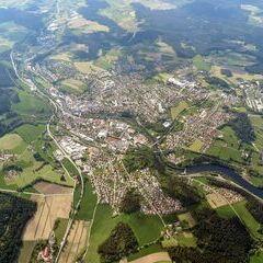 Flugwegposition um 14:54:04: Aufgenommen in der Nähe von Regen, Deutschland in 2268 Meter