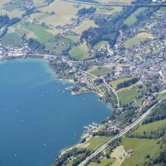 Flugwegposition um 12:41:39: Aufgenommen in der Nähe von Gemeinde Innerschwand am Mondsee, Österreich in 2559 Meter