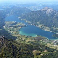 Flugwegposition um 12:32:43: Aufgenommen in der Nähe von Gemeinde Bad Goisern am Hallstättersee, Bad Goisern am Hallstättersee, Österreich in 2848 Meter