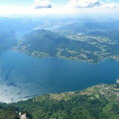 Flugwegposition um 13:31:40: Aufgenommen in der Nähe von Gemeinde Steinbach am Attersee, Österreich in 2536 Meter