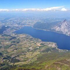 Flugwegposition um 13:38:15: Aufgenommen in der Nähe von Gemeinde Ebensee, 4802 Ebensee, Österreich in 2617 Meter
