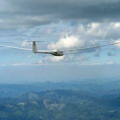 Flugwegposition um 14:55:42: Aufgenommen in der Nähe von Gußwerk, Österreich in 2559 Meter
