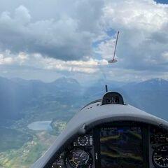 Flugwegposition um 12:45:20: Aufgenommen in der Nähe von Gemeinde Hermagor-Pressegger See, Österreich in 1778 Meter