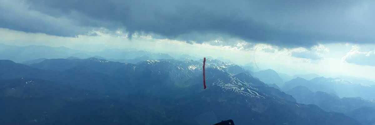 Flugwegposition um 14:50:56: Aufgenommen in der Nähe von Gußwerk, Österreich in 2424 Meter