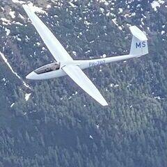 Flugwegposition um 13:55:42: Aufgenommen in der Nähe von Gemeinde Lassing bei Selzthal, Österreich in 3134 Meter