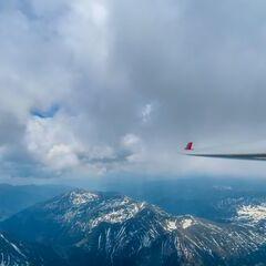Flugwegposition um 10:38:25: Aufgenommen in der Nähe von Rottenmann, Österreich in 2458 Meter