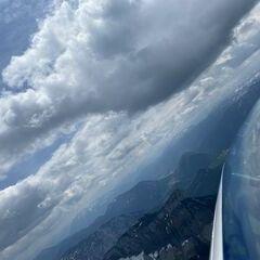 Flugwegposition um 10:32:55: Aufgenommen in der Nähe von Gemeinde Altaussee, Österreich in 2188 Meter