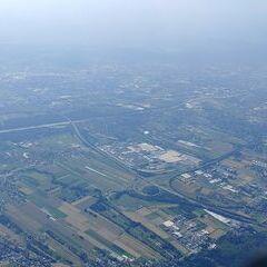 Flugwegposition um 14:38:13: Aufgenommen in der Nähe von Gemeinde Vasoldsberg, 8076, Österreich in 1849 Meter