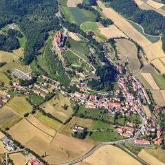 Flugwegposition um 14:06:31: Aufgenommen in der Nähe von Kornberg bei Riegersburg, Österreich in 1965 Meter