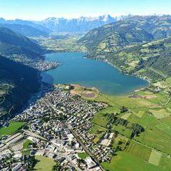 Flugwegposition um 16:11:20: Aufgenommen in der Nähe von Gemeinde Zell am See, 5700 Zell am See, Österreich in 1590 Meter