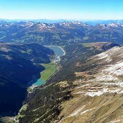 Flugwegposition um 15:23:17: Aufgenommen in der Nähe von Gemeinde Krimml, Österreich in 2837 Meter